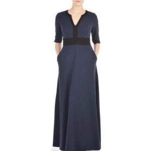 Eshakti Navy with Black Trim Knit Maxi Dress Large